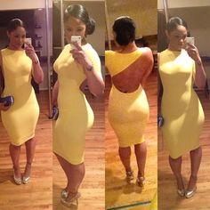 Maliah Michel in a sexy yellow dress...Motivation!!!!