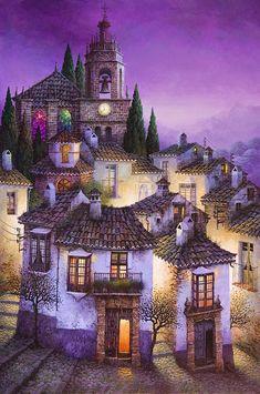 Desde un lugar elevado, casi siempre por encima de los últimos tejados, Luis Romero me permite otear los campanarios, las casas encaladas...