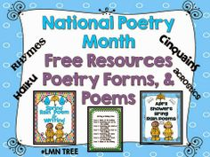 LMN Tree: National Poetry Month Free Resources and a free poem packet