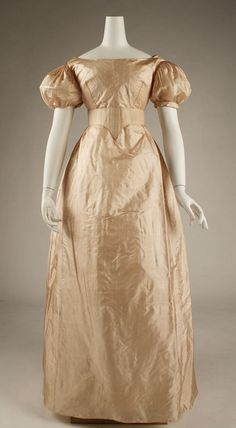 Dress ca. 1820 via The Costume Institute of the Metropolitan Museum of Art