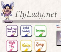 """""""Marla Cilley is The FlyLady. Since 1999, she has been a mentor to over half a million women teaching them how to organize their homes and how to love themselves."""" - Tried and true systems to teach you how to establish little routines for getting rid of your clutter and maintaining your home, office, and life. Personable, forgiving and straight shooting program. (Note: Overwhelming at first, but the ideas are great.)"""