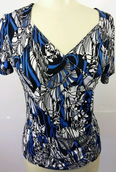 Petite Small Blouse Top Womens Stretch Print PS LanaLee #LanaLee #Blouse