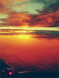 The sea of clouds. Sunrise up in the air.  #photoshutter #photography #sunrise #flying
