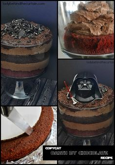 Copycat Darth by Chocolate Recipe   EIGHT layers of chocolate!  That's right I said eight!