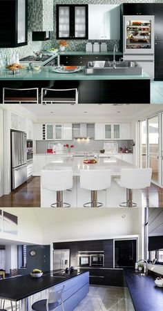 Kitchen Decorating Ideas - Glass Appliances - http://interiordesign4.com/kitchen-decorating-ideas-glass-appliances/