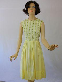 vintage-50s-day-dress-yellow-cotton-w