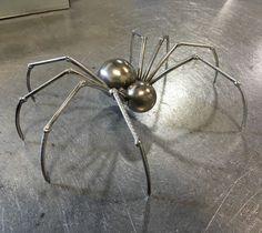 Metal sculpture sculpture spider welded spider scrap