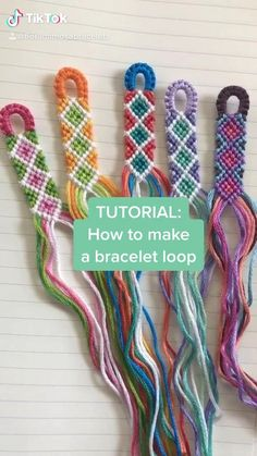 Diy Bracelets Patterns, Yarn Bracelets, Diy Bracelets Easy, Embroidery Bracelets, Bracelet Crafts, Jewelry Crafts, Diy Bracelet Keychain, String Bracelet Patterns, Diy Bracelets With String