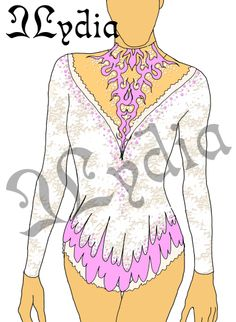 Competition Rhythmic gymnastic leotards Design white queen