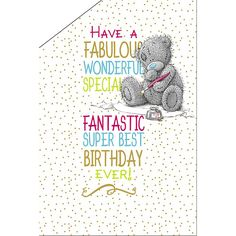 Best Birthday Ever Pop Up Me to You Bear Card  £3.59