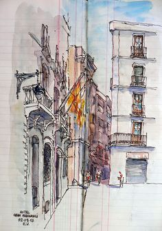 June CONTEST! COMMENT on the projects displayed on buildyful.com  WIN 100 USD! Find out more on buildyful.com #architecturestudents~~Urban Sketchers Spain. El mundo dibujo a dibujo.: barcelona
