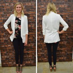 This white blazer is a must have! We LOVE the longer length and 3/4 sleeves! - $48 We have RESTOCKED the amazing, double hooded pullover in black & white stripes with heather grey! - $56  Thumb holes? ✔️ Two hoods? ✔️ Stylish? ✔️✔️ #springfashion #spring #fashionista #shoplocal #aldm #apricotlaneboutique #apricotlanedesmoines #shopaldm #desmoines #valleywestmall #fashion #apricotlane #newarrival #shopalb #ootd #westdesmoines #shopapricotlaneboutiquedesmoines #ontrend