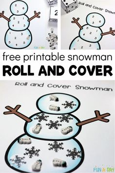 Don't miss this FREE printable winter math activity for preschool! This free printable snowman game is a fun and engaging way for kids to learn about early math skills during a kindergarten or preschool snowman theme. Numeracy Activities, Early Learning Activities, Winter Activities For Kids, Free Preschool, Preschool Printables, Preschool Activities, Free Printables, Preschool Winter, Number Games For Kids