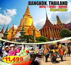 Photo: ★★★THE TRAVEL BUG★★★★ BANGKOK 3D2N PACKAGE W/ FULL TOURS (LIMITED SLOTS ONLY) for only ₱ 14,488/pax Package Inclusions: ✓ Round Trip Airfare MNL-BKK-MNL ✓ 3 Days & 2 Nights Hotel Accommodation ✓ Daily Breakfast ✓ Half Day Amazing Bangkok city and temple tour ✓ Full day Tour: Damnernsaduak Floating Market, Crocodile Farm and Elephant Theme Show ✓ Round Trip Transfers (Airport – Hotel – Airport) ✓ All Hotel taxes & Surcharges Minimum of 2 Person to avail the promo price. TRAVEL PERIOD…