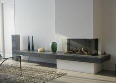 Modern Fireplace, Fireplace Design, Living Room Tv, Kitchen Living, Cladding Design, Home Decor Inspiration, Family Room, New Homes, House Design