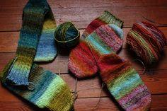 beautiful hand-spun & hand-knit