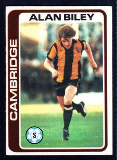 TOPPS FOOTBALLERS-PALE BLUE-1979-ALAN BILEY-CAMBRIDGE No.273