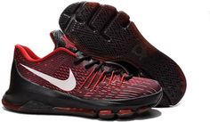 best service 1d3e9 c66fa Nike KD 8 Black Fire Red White Cheap Sneakers, Nike Sneakers, Discount Nike  Shoes