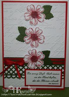 "Karins Kreativstube: ""Blumen"" rot/grün - BaLiSa 02/06 Flowers, Creative"