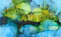Abstract alcohol ink by Susan Lucas.