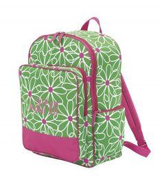 Monogrammed Kid's Backpack- Daisy ($15.95)