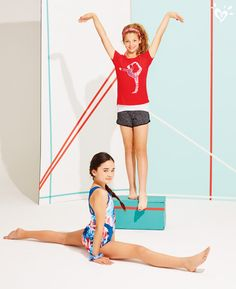 Work a cool work-out look that moves as easily as you do (hint: our dance & gym collections)!