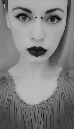 Gothic Bridge Piercings ~ http://tattooeve.com/cool-bridge-piercing/ Piercing
