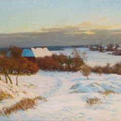 Paul Müller-Kaempff – Ahrenshoop im Winter, Keywords: Paul Müller-Kaempff, Ahrenshoop, Darß, Künstlerkolonie, Vorpommern, art, paysage, Landschaftsmalerei