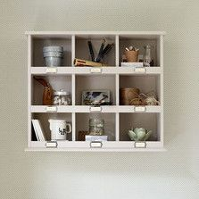 Pigeon shelves are great for storing knick-knacks - The Dormy House #thedormyhouse