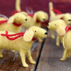 I need this:   Golden Retriever  Needle Felted Dog Christmas by BossysFeltworks