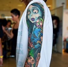 Excellent cartoon-style tattoo