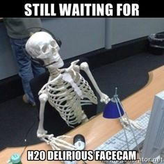 Still waiting for H20 delirious facecam - Skeleton computer | Meme ...