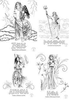 Greek Mythology Gods, Greek Mythology Tattoos, Mythology Books, Greek Gods And Goddesses, Roman Mythology, Greek Drawing, Aphrodite Tattoo, Greek God Tattoo, Children's Literature