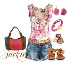 Summer floral bright..., created by jackijons on Polyvore