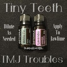 Whether you're a little baby cutting teeth or a grown up grinding them at night, mouth and jaw discomfort can be miserable for everyone! Try a few drops of white fir and lavender diluted in a rollerbottle is a game changer and godsend for littles and bigs alike! Try it and let me know how it goes for you. For babies you need very little essential oil (like 2-3 drops each)the rest could be any carrier. Adults, make it as strong as you like. #teething #tmjdisorder #tmj #grindingteeth #baby...