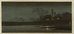 Hiroaki (Shotei) Takahashi 1871-1945 - Starlight Night - artelino Art Auctions.