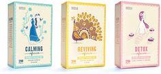 Marks and Spencer naturally caffeinefree #Tea #illustrated by Stuart Kolakovic #packaging #design