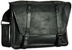 Jost – Dakota Messenger Bag XL Schwarz (innen: blau-beige kariert) - Jost Dakota Messenger Bag XL Schwarz (innen: blau-beige kariert)