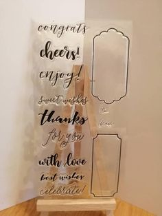 Items similar to Clear Rubber Stamp Set - Sentiments, with love on Etsy Wedding Anniversary Cards, Wedding Cards, Debbie Moore, Stamp Collecting, Clear Stamps, Personalized Wedding, Birthday Cards, My Etsy Shop, Place Card Holders