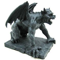 Conall the Gargoyle - collectible figurine http://gargoylestore.blogspot.com Gargoyles with wings are believed to come alive at night and fly around protecting your home #gardengargoyles