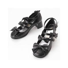 シューズ(トリプルリボンシューズ)   メタモルフォーゼ タンドゥフィーユ(metamorphose tempsdefille)  ... ❤ liked on Polyvore featuring shoes
