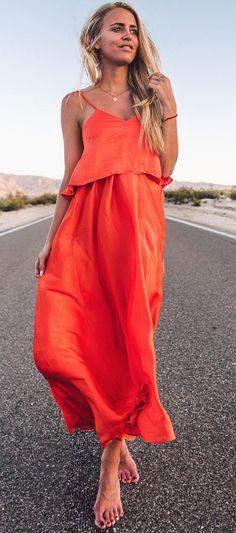 #summer #musthave #outfits | Orange Summer Set