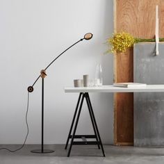 The Planet LED Floor Lamp by Seed Design has a unique construction that is designed to meet different lighting requirements. It has a round-shaped gear having with a copper finish to it with an LED light source that provides a moon-like illumination. Black Floor Lamp, Led Floor Lamp, Modern Floor Lamps, High End Lighting, White Light, Minimalist Design, Lighting Design, Planets, Flooring