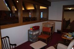 Updated cry room at Faith Lutheran Church and Student Center in La Crosse, Wisc. thanks in part to LCEF loan funds provided by LCEF investors.