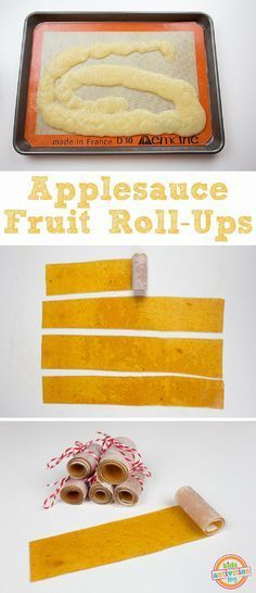 You just need one-ingredient to make Applesauce Fruit Roll-Ups. Easy, delicious, and kids love 'em! Perfect snack for school, on the road, or just because. snacks for school Applesauce Fruit Roll-Ups Healthy School Snacks, Lunch Snacks, School Lunches, Kid Snacks, Kid Lunches, Toddler Lunches, Eating Healthy, Clean Eating, Fruit Recipes