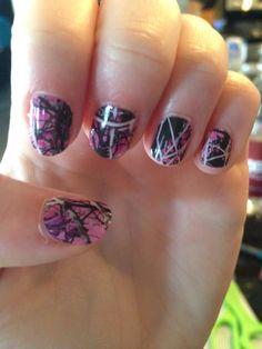 New Jamberry, Muddy Girl nails.