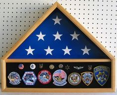 """5' X 9.5' Burial Funeral Flag Display Case Military Shadow Box, Solid wood, Oak Finish (FC10-OA) by NULL. $109.95. With shadow box for Medals, Pins, Patches, or Insignia. Museum quality at discount price. Comes in one piece, NO assembly is required.. Crafted from solid hardwood, NOT VENEER or pressed wood.. All-in-one Flag and Memorabilia display case holds the standard 5' x 9 1/2"""" burial/interment flag with attached display case to proudly display all your treasured awards..."""