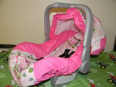 pink stuff | PINK JOHN DEERE girl Infant Car Seat Cover and Canopy Cover with Free ...