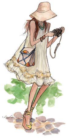 shu84: Inslee Haynes Fashion Illustrations