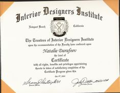 431 best certificate design images on pinterest font logo rh pinterest com interior design certification programs interior design certification programs